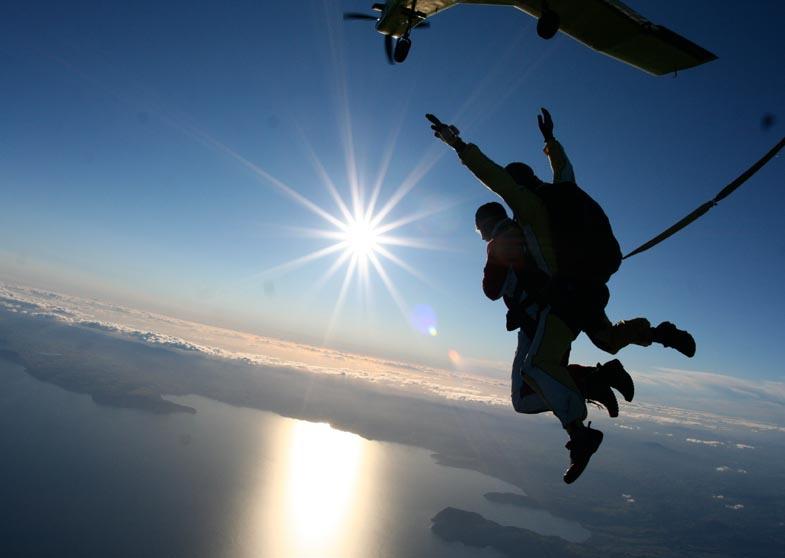 新西兰旅游景点,新西兰景点,北岛,陶波,陶波湖,陶波高空双人跳伞
